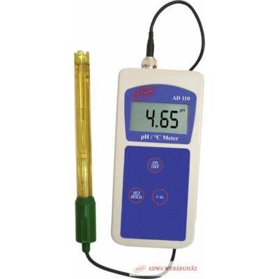 AD110: Hordozható pH/Temp mérő