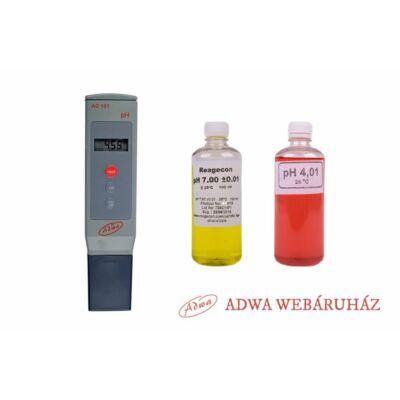AD101 pH teszter+ 2 x 100 ml puffer oldat