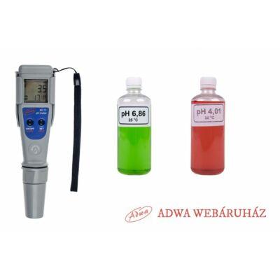 ADWA AD11 pH mérő + puffer készlet 2 x 100ml