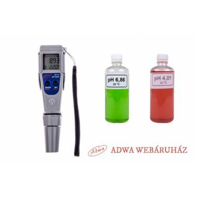 ADWA AD-12 pH mérő + puffer oldatok 2x100 ml