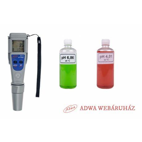 Digitális pH mérő - ADWA AD11 - Ajándék kalibráló oldatokkal