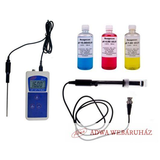 AD111 pH mérő lapos felületű pH elektródával