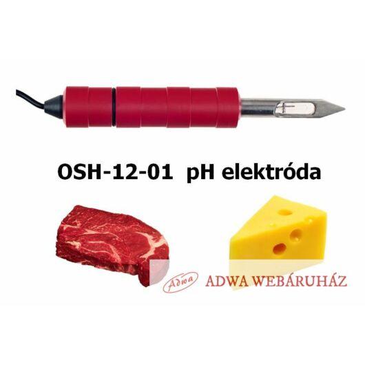 OSH-12-01 pH elektróda hús és kemény-sajt pH mérésére